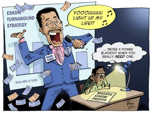 'Eskom: You Light Up My Life': Africartoons.com