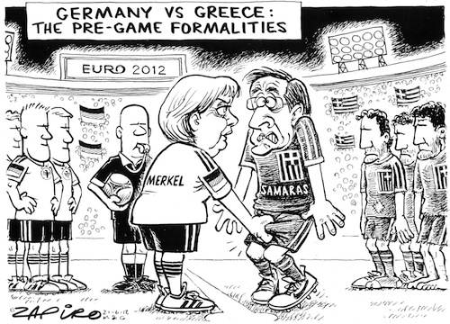 'Euro 2012: Germany vs Greece': Africartoons.com