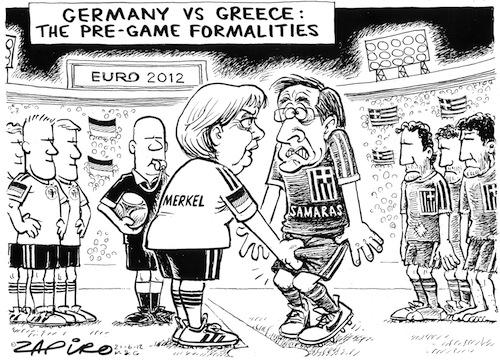 'Euro 2012: Germany vs Greece': Africartoons.com