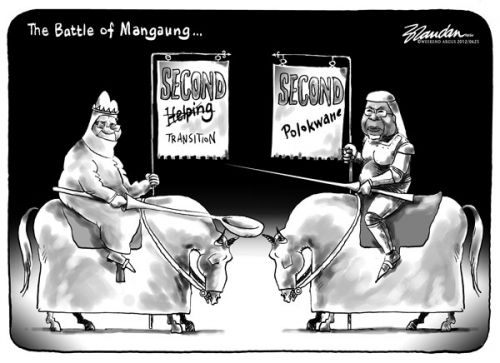 'The Battle of Mangaung': Africartoons.com