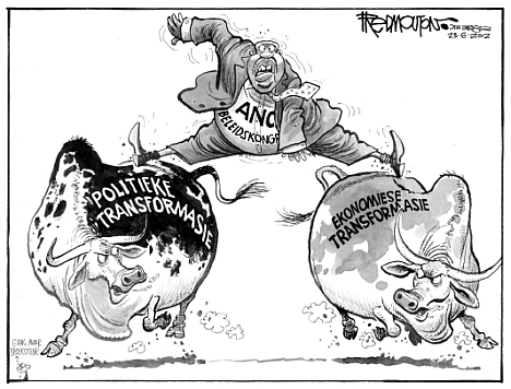 'Riding the Bulls': Africartoons.com