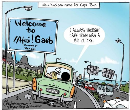 'Cape Town's New Name': Africartoons.com
