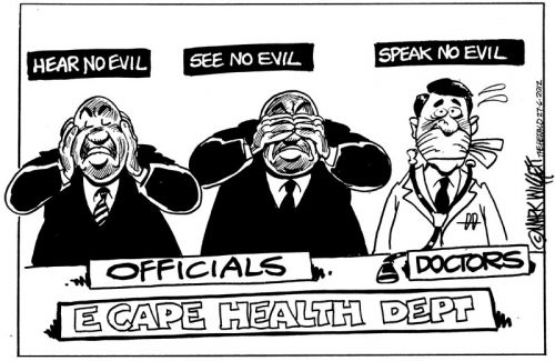 'Ear Eyes and Mouth Specialists': Africartoons.com