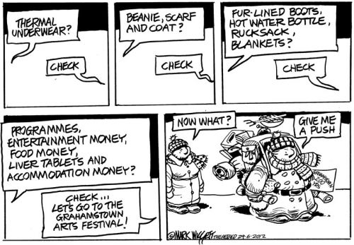 'It's Festival Time in Grahamstown': Africartoons.com