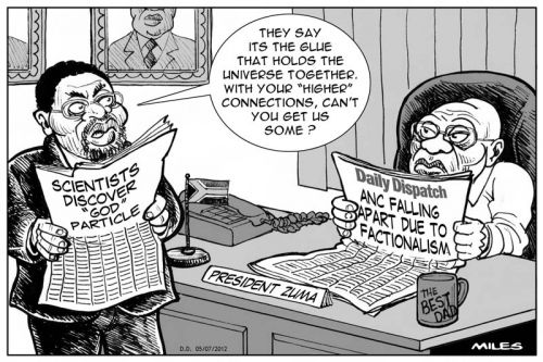 'The ANC and the God Particle ': Africartoons.com
