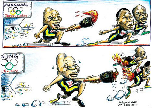 'Igniting the Presidential Race': Africartoons.com