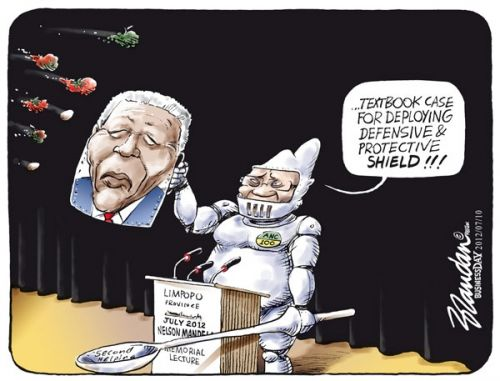 'Madiba is My Shield': Africartoons.com