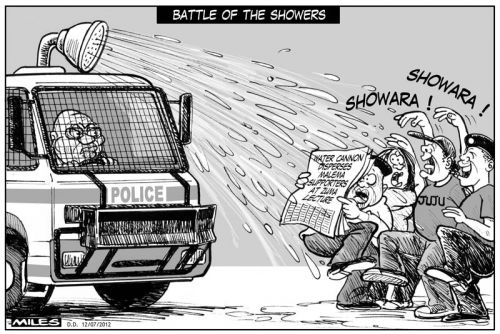 'The Water Canon': Africartoons.com