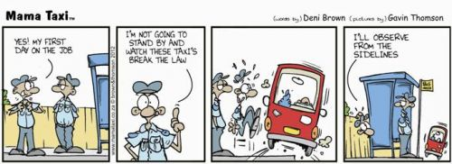 'Beware the Taxi': Africartoons.com