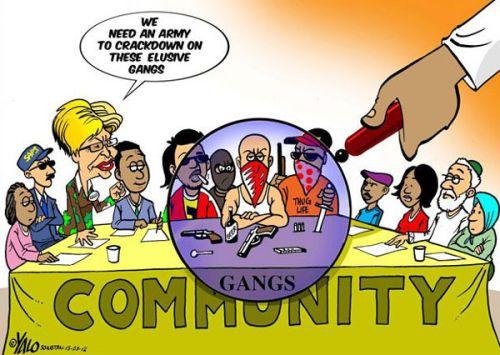 'Taking on the Gangs': Africartoons.com