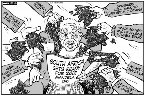 'Mandela in Demand': Africartoons.com