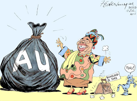 'Angie Bags a Big Job': Africartoons.com