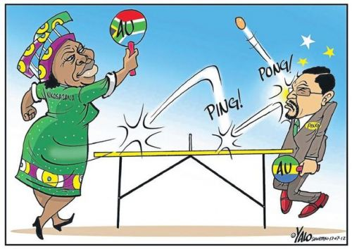 'Good Shot, Nkosazana!': Africartoons.com