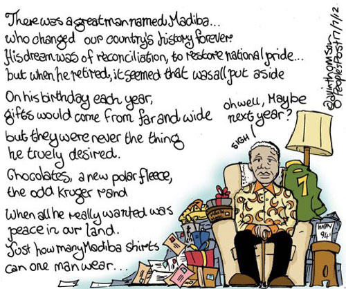'The Spirit of Mandela': Africartoons.com
