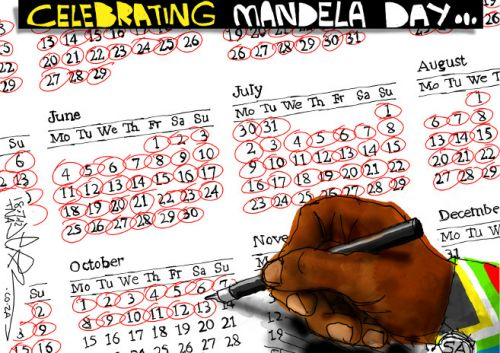 'Make Every Day a Mandela Day': Africartoons.com