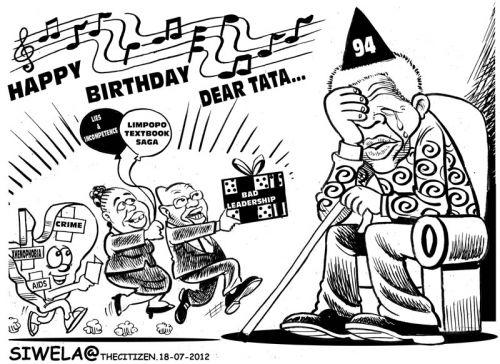 'Madiba in Tears': Africartoons.com