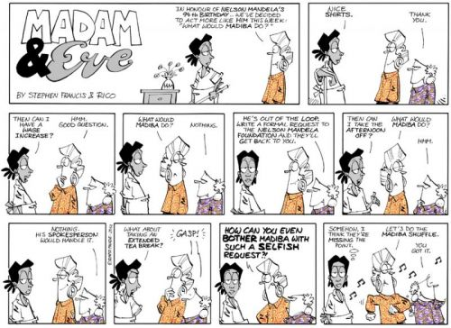 'Madam and Eve Celebrates Madiba Week': Africartoons.com