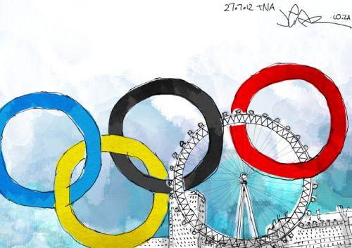 'An Eye on the Olympics': Africartoons.com