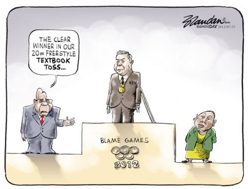 'Medalist in the Blame Games': Africartoons.com