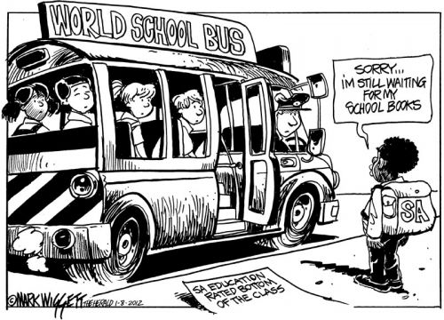 'Limpopo Scholars Miss the Bus ': Africartoons.com