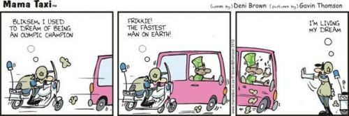 'Frikkie the Olympian ': Africartoons.com