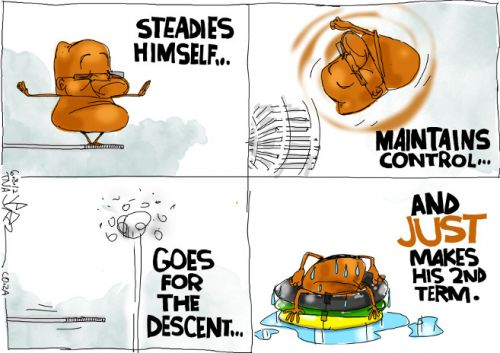'Zuma Takes the Plunge': Africartoons.com