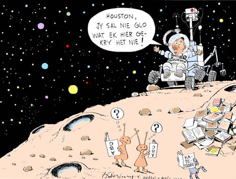 'Houston We've Discovered a Problem': Africartoons.com