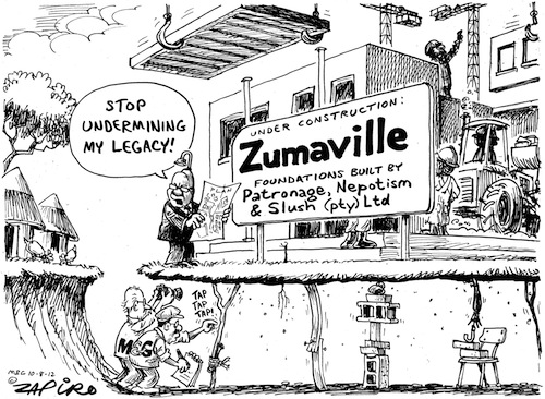 'Zumaville Built on Clay': Africartoons.com