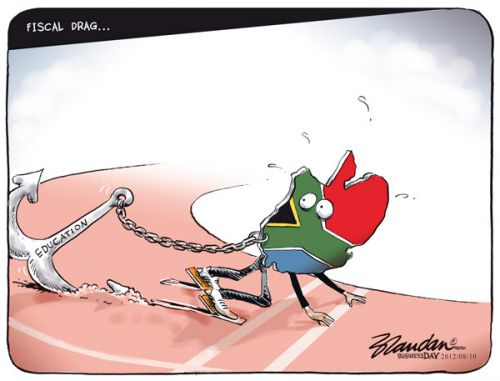 'SA Education is a Drag': Africartoons.com