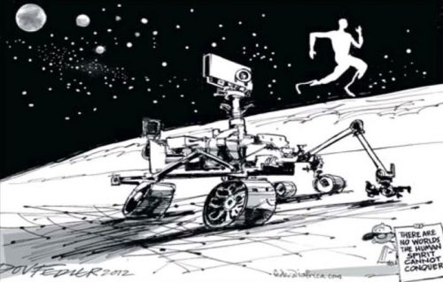 'Two Giant Leaps for Mankind': Africartoons.com