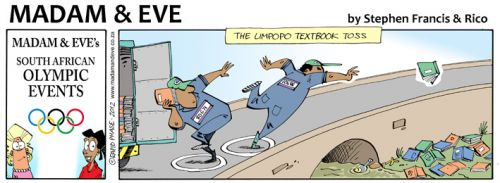 'Textbook Toss': Africartoons.com