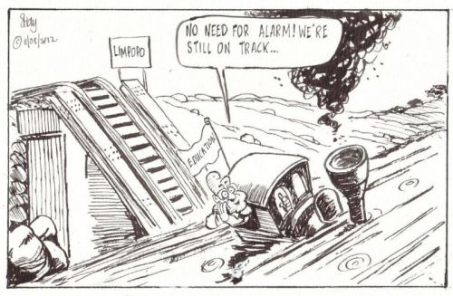 'On Track fora Disaster': Africartoons.com