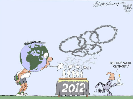'Olympics Closing Ceremony': Africartoons.com