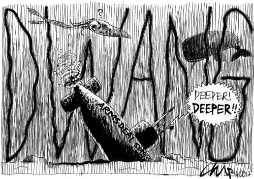 'Deeper in the...': Africartoons.com
