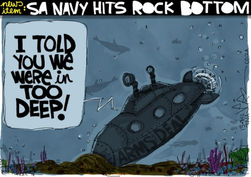 'SA Navy Hits Rock Bottom': Africartoons.com