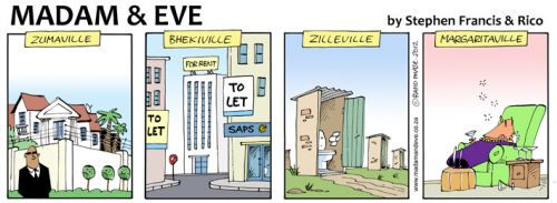 'From Zumaville to Margaritaville': Africartoons.com