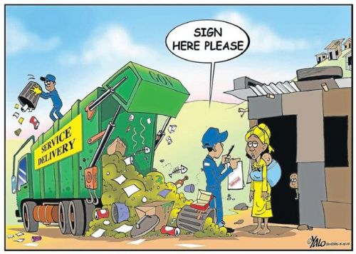 'Trashing Delivery': Africartoons.com