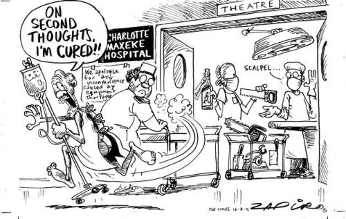 'Sick Hospitals': Africartoons.com