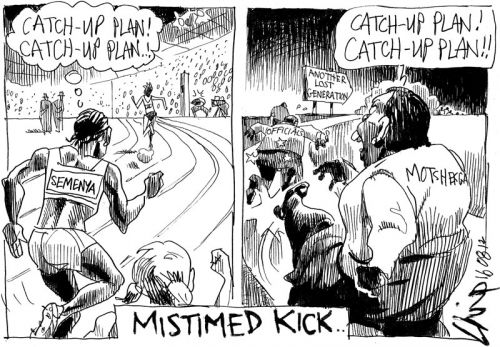 'A Mistimed Kick': Africartoons.com