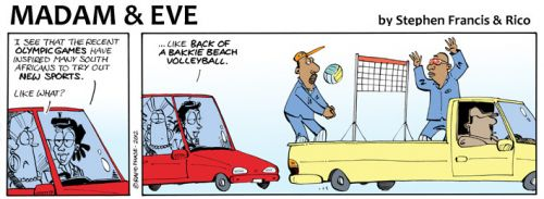 'More Olympic Sports...': Africartoons.com