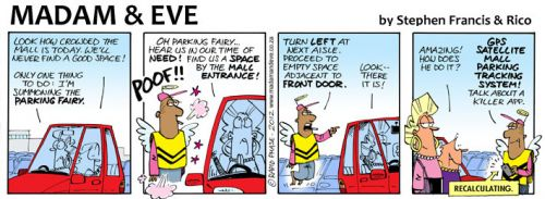 'The Parking Fairy Reveals his Secret': Africartoons.com