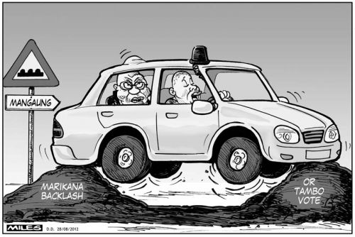 'A Bump in the Road': Africartoons.com