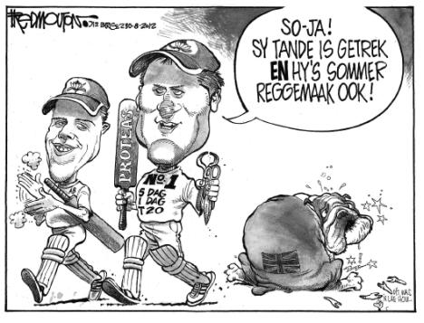 'British Bulldog Toothless and Fixed': Africartoons.com