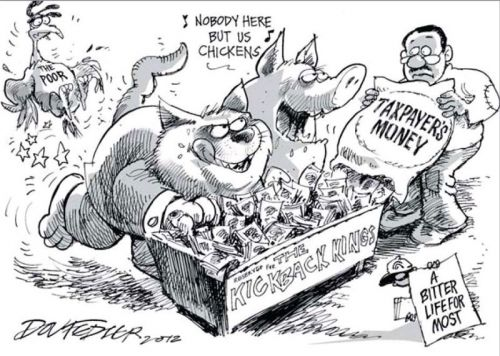 'The Pig and Cat are at it Again': Africartoons.com