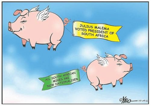 'Pigs Might Fly': Africartoons.com