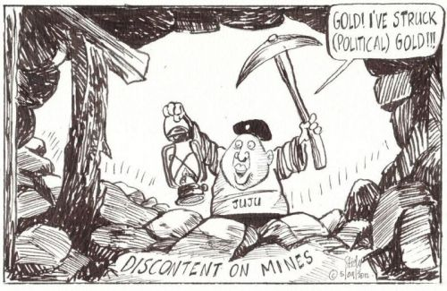 'Malema Mines Discontent': Africartoons.com