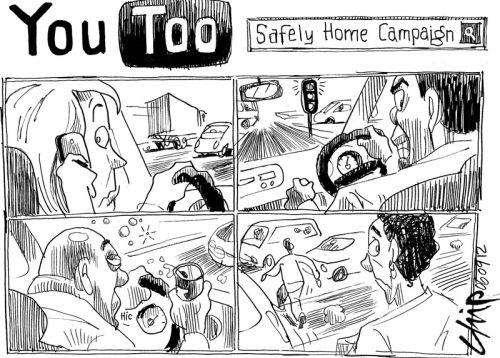 'You Too Can Get Home Safely': Africartoons.com