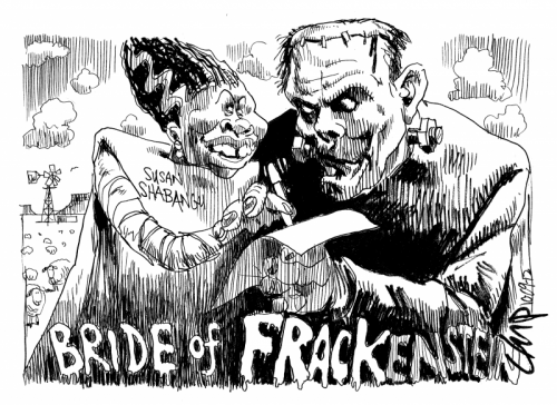 'Bride of Frackenstein': Africartoons.com
