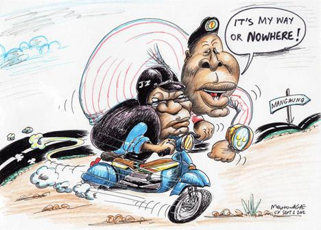 'To Mangaung with a Monkey on his Back': Africartoons.com