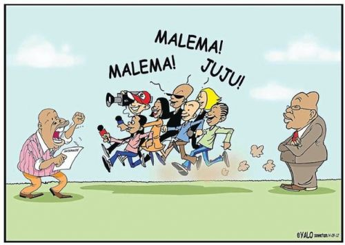 'Malema Steals the Show': Africartoons.com